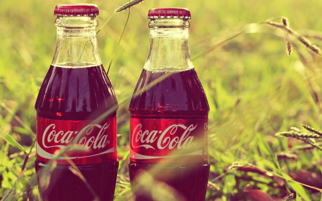 Coke Cola Coca Products Bottles Photography Grass Wallpaper