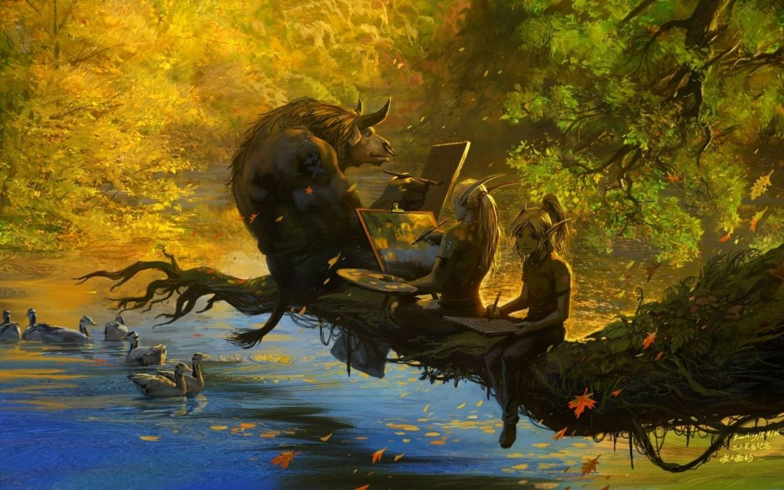 world-of-warcraft wow fantasy computer technology scifi artistic creatures animals rivers trees forest landscapes humor funny wallpaper