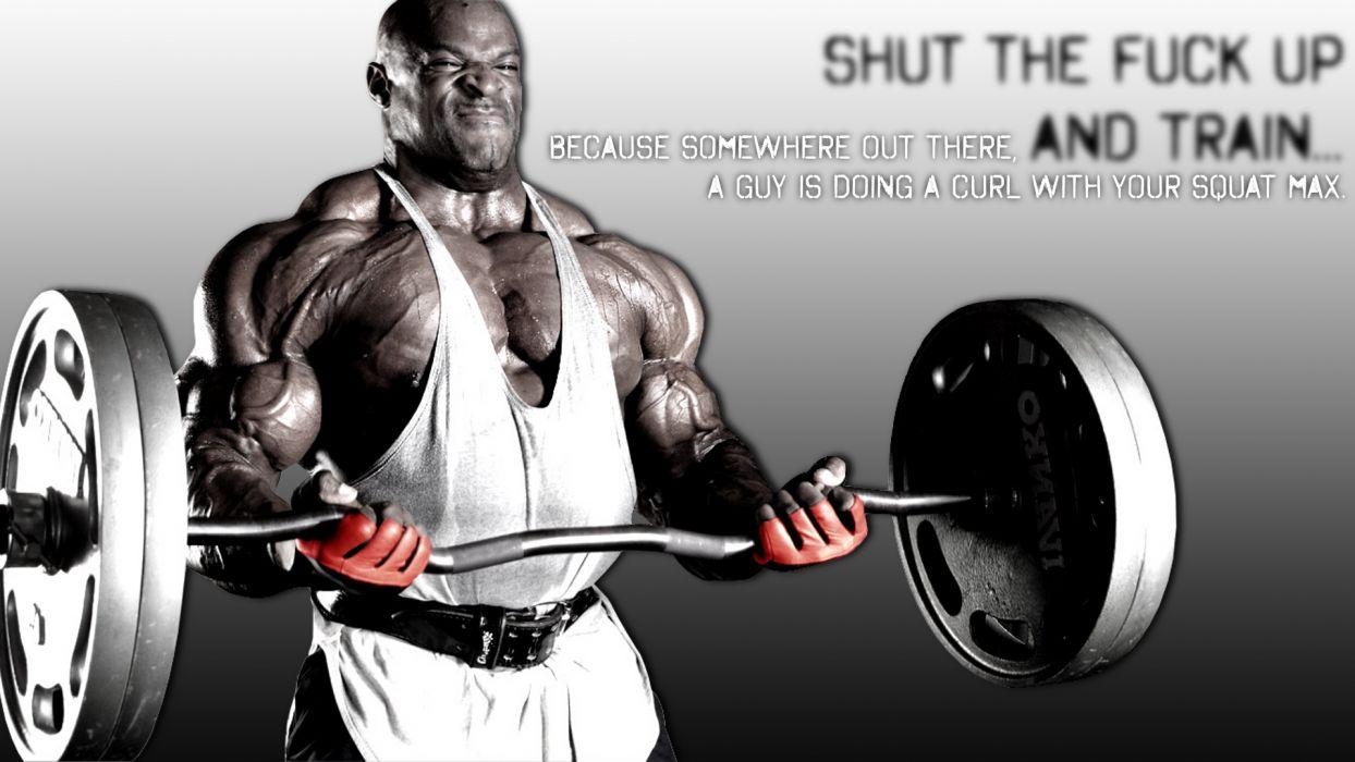 Bodybuilding Bodybuilder Curl Ronnie-Coleman weights men males muscles wallpaper