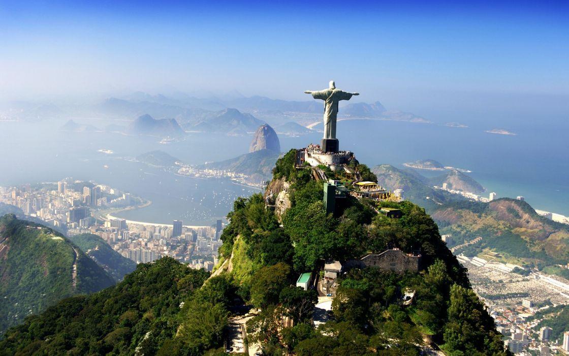 Brazil Jesus Christ Landscapes Cities Scenic Religious Religion