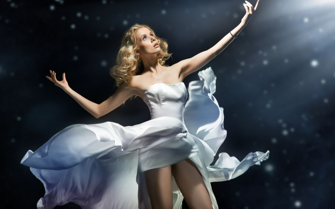women females girls babes models sexy sensual manipulation gown style fashion magical wallpaper