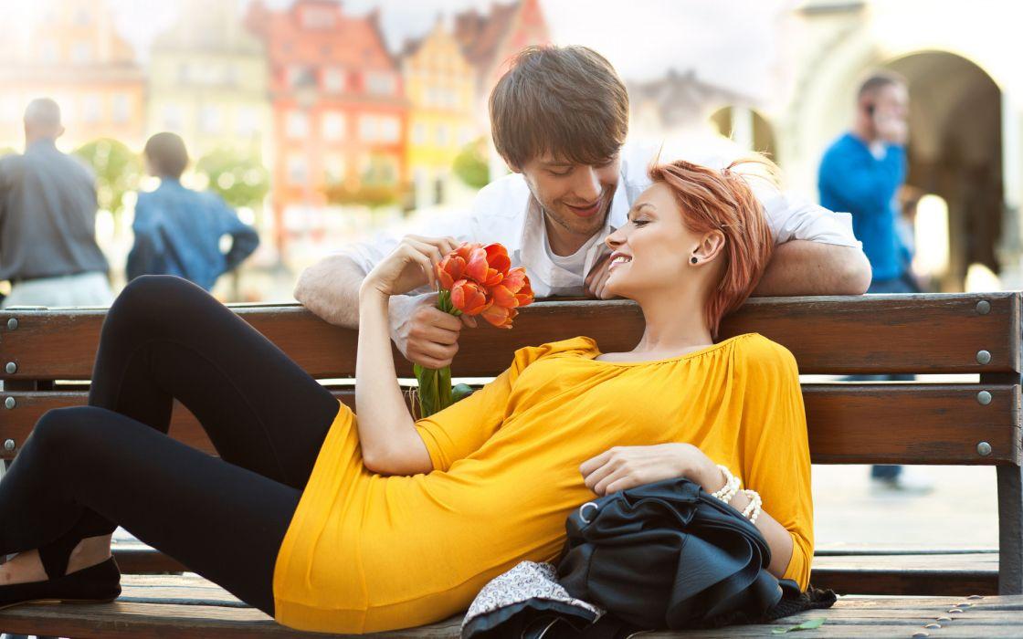 people love romance flowers mood men males women females girls sensual redhead wallpaper