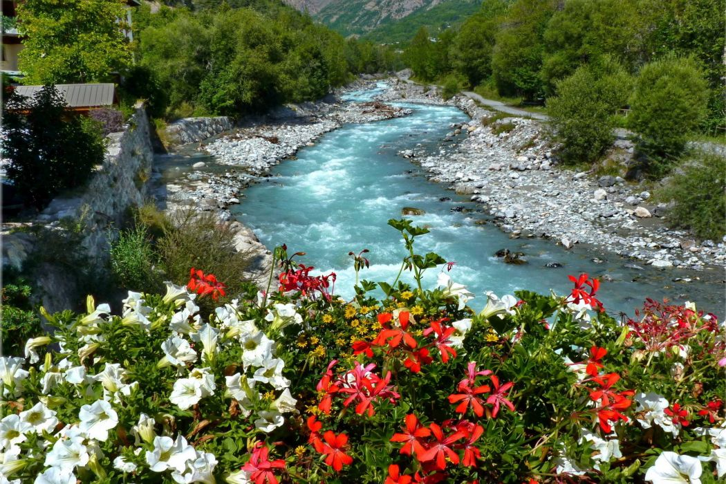 landscapes nature rivers flowers trees forest architecture buildings houses wallpaper