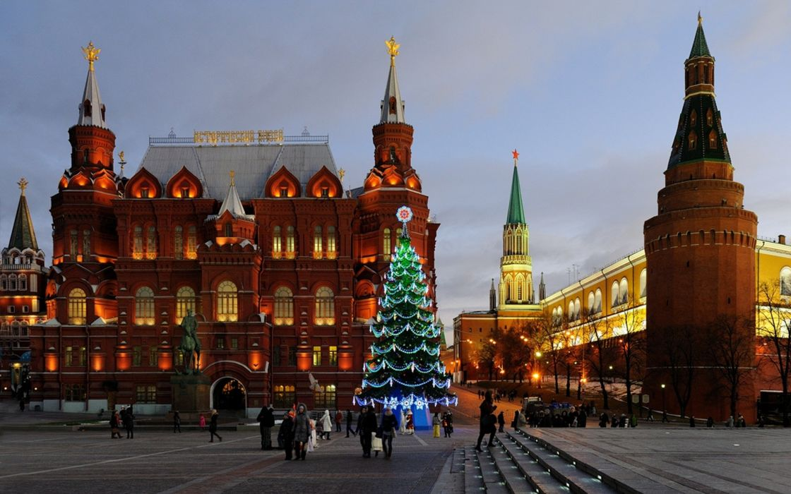 holidays christmas architecturembuildings moscow wallpaper