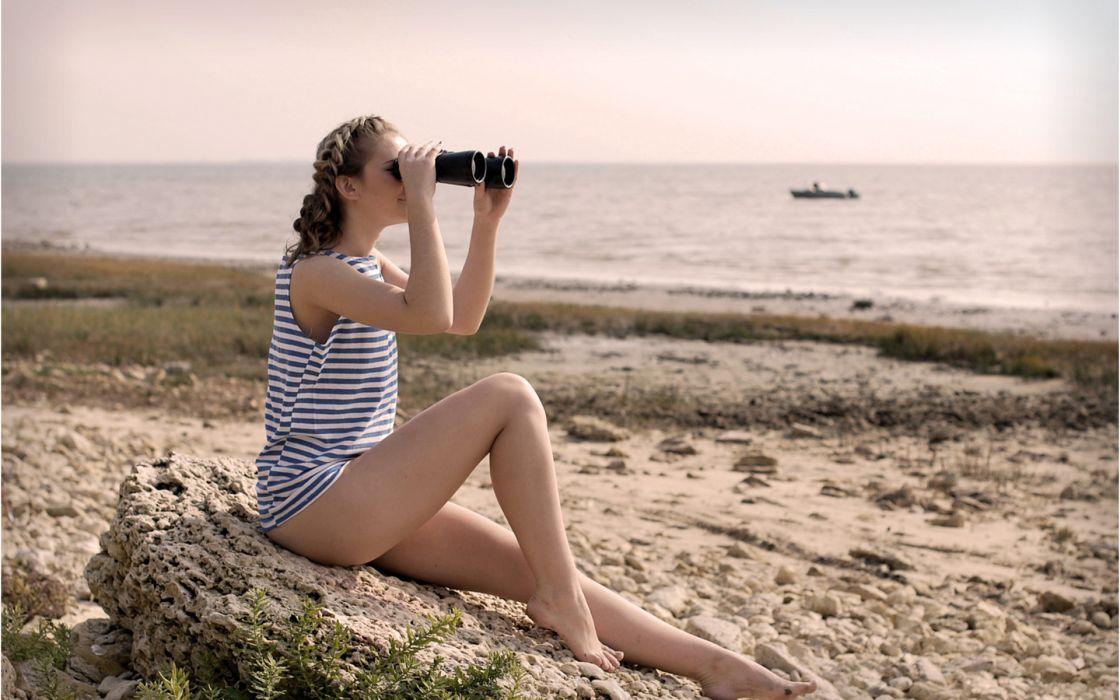 women females girls babes models style legs sexy sensual beaches ocean wallpaper