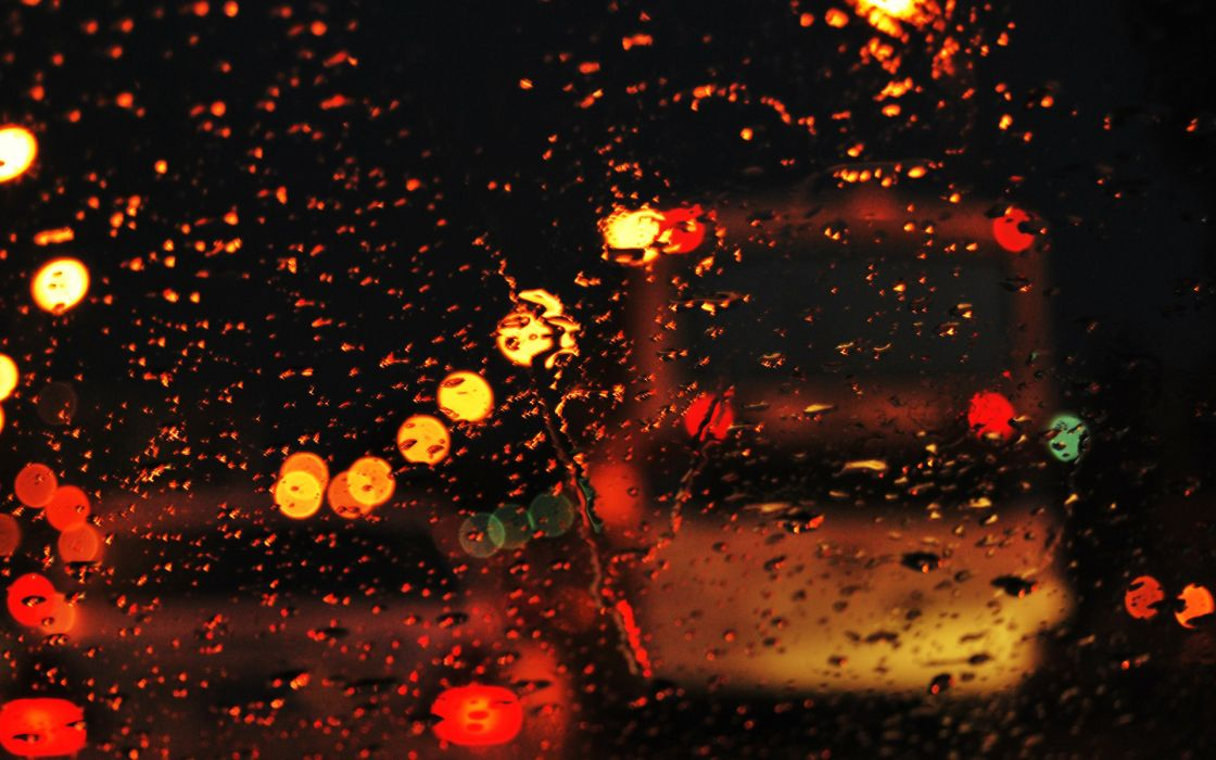 photography drops water lights dark colors vehicles cars traffic wallpaper