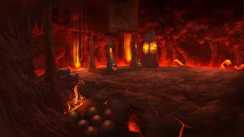 Atlantica fantasy dark evil fire flames creepy spooky video-games wallpaper