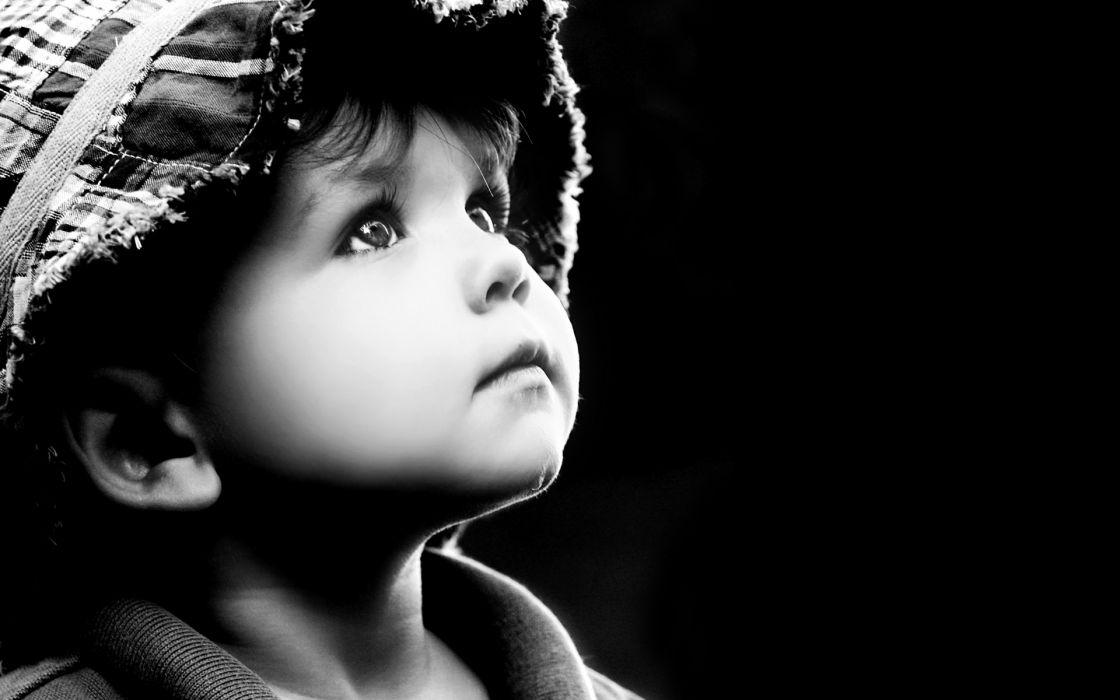 children child cute people black-and-white black white b/w wallpaper