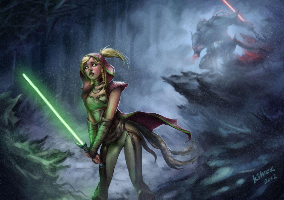 star-wars wars games dark weaponslightsaber monster creature wallpaper