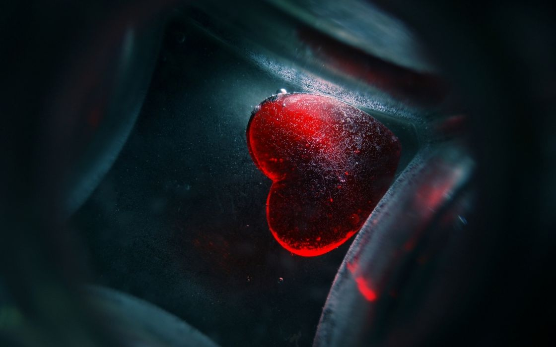 love romance heart red abstract wallpaper