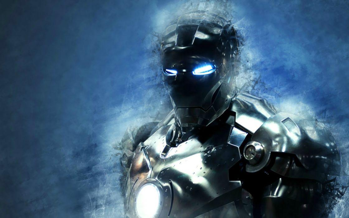 iron-man iron man cyborg robot sci-fi comics games video-games suit costume eyes superhero heroes mech mecha tech wallpaper