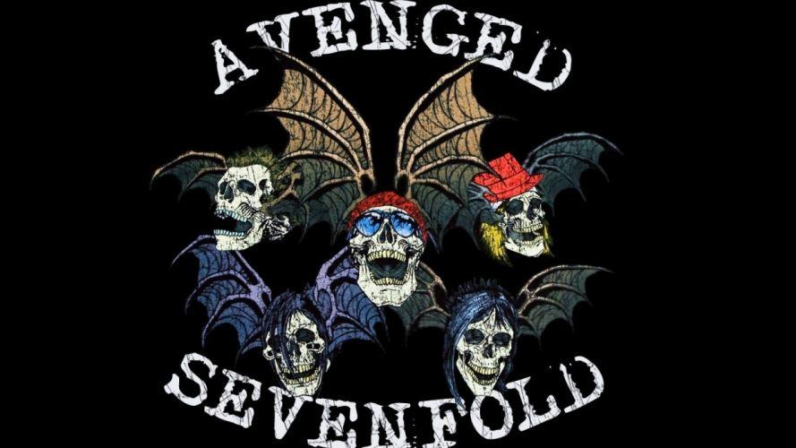 avenged-sevenfold avenged sevenfold band groups metal heavy rock hard dark skulls wings wallpaper