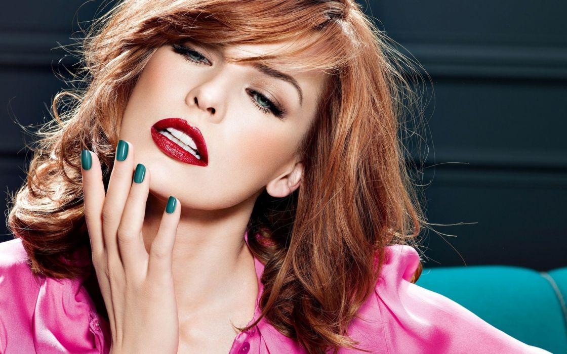 milla-jovovich milla jovovich celebrities actress women females girls babes sexy sensual face lips brunette style wallpaper