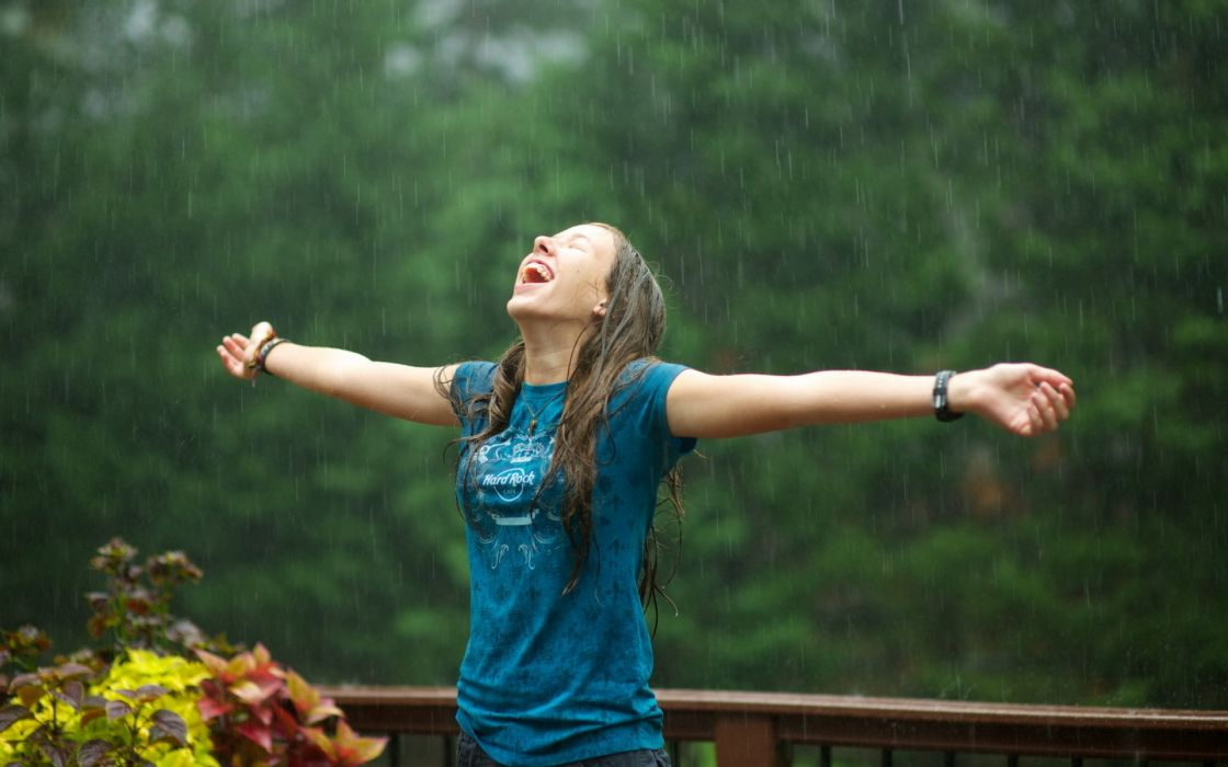 brunette people women females girls models style wet rain drops mood emotion raining weather pose wallpaper