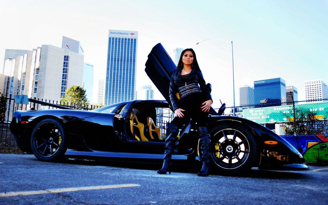 Mosler Raptor GTR Abby-Cubey Abby Cubey exotic supercars black women females girls models babes sexy sensual asian oriental wallpaper