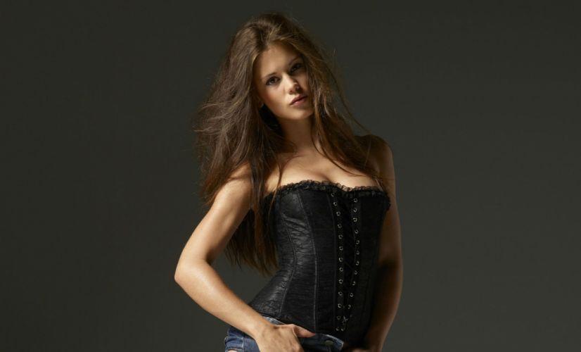 little-caprice caprice brunette women females girls babes models actress sexy sensual wallpaper