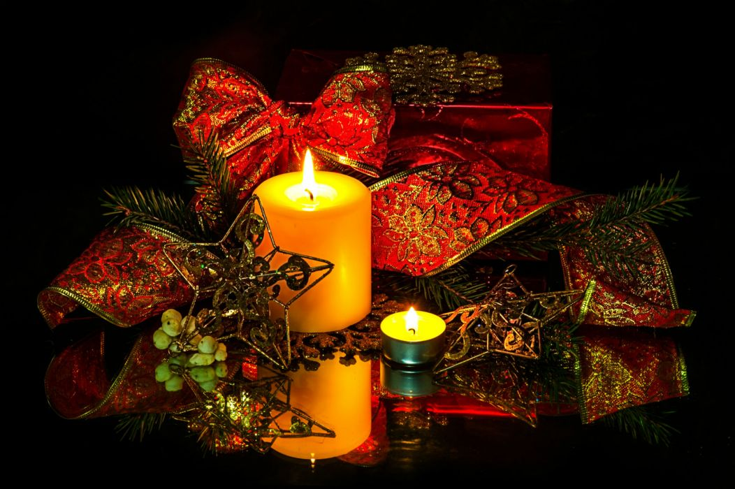 holidays christmas candles fire flames wallpaper