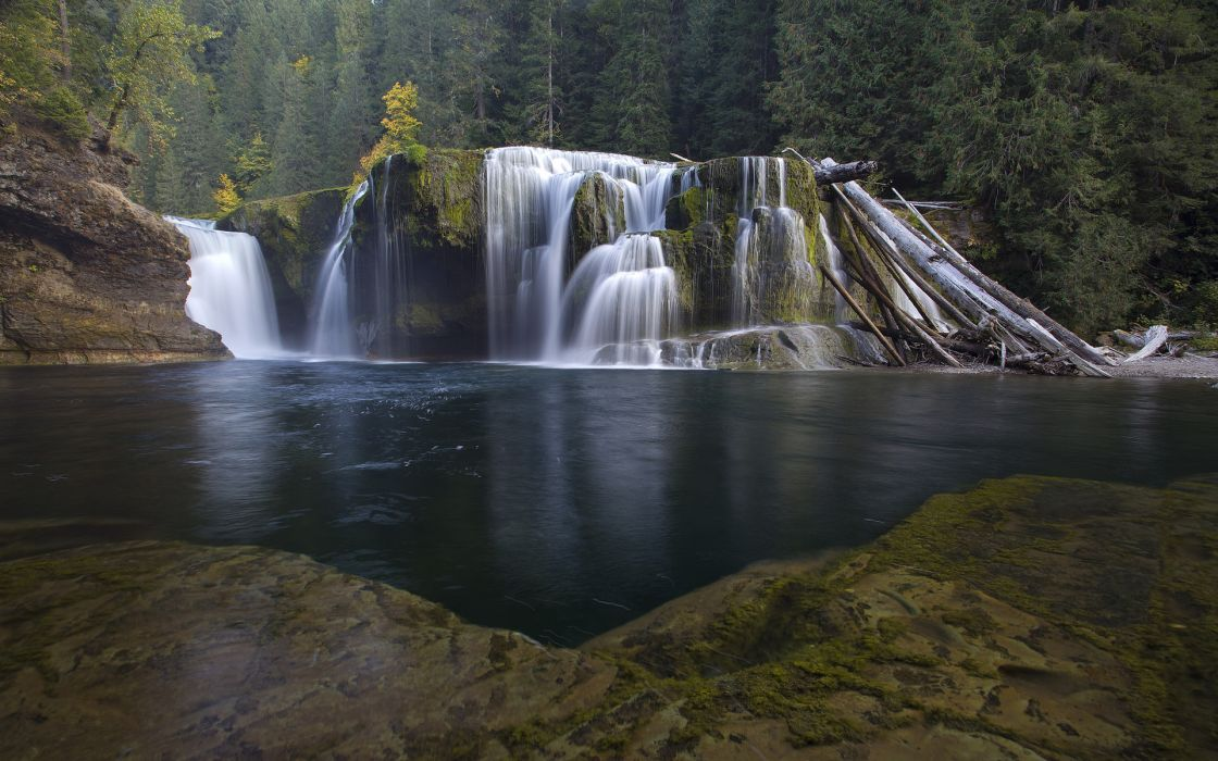 nature landscapes rivers pool water forests trees cliff timelapse wallpaper
