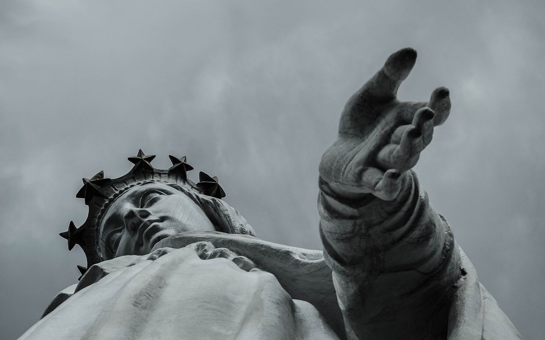 photography statue monument gothic religion sky skies clouds people hands metal bronze artistic wallpaper