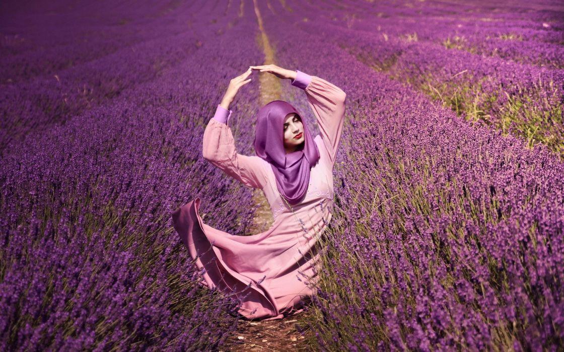 landscapes nature flowers rows shawl scarf dress women females girls models mood emotion wallpaper