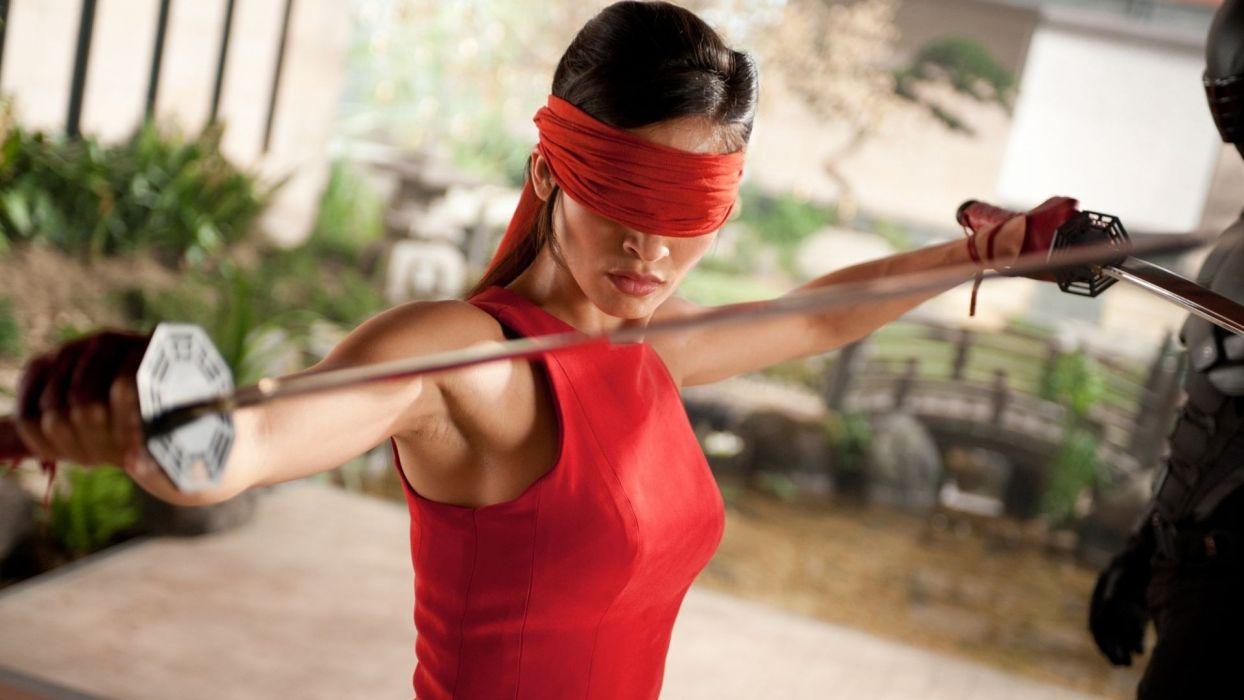 GI-Joe gi joe Sword Blindfold Katana Adrianne Palicki asian oriental action weapon redwomen female girl babes sexy sensual style wallpaper