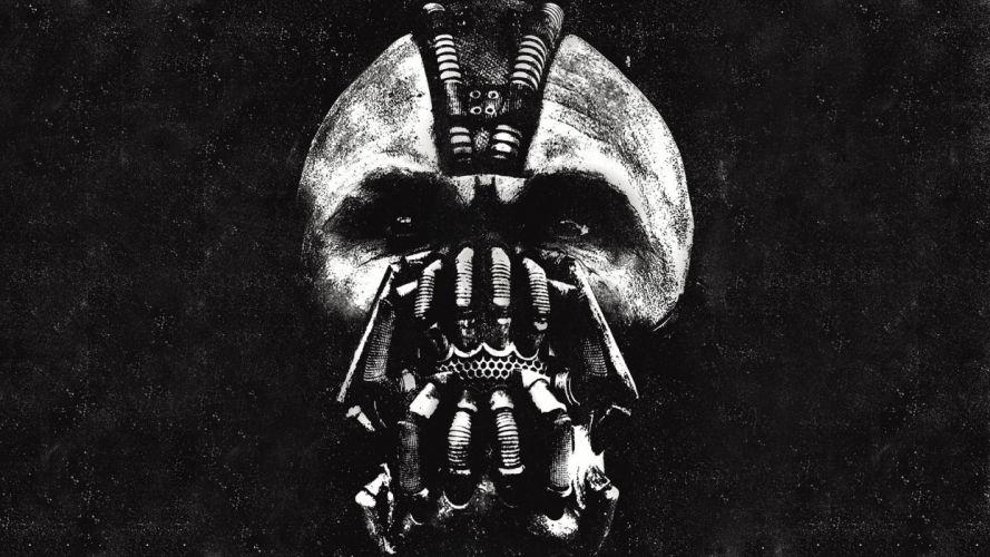 the dark knight rises bane batman comics movies games mask skull dark evil eyes wallpaper