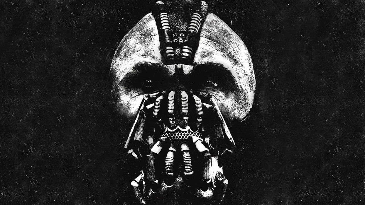 the dark knight rises bane batman comics movies games mask skull dark evil eyes wallpaper