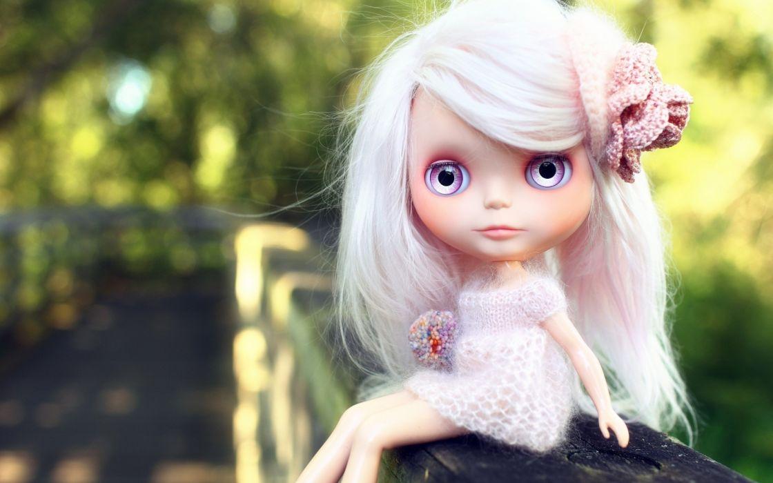children doll toys blonde face eyes dress cute hair pose  wallpaper