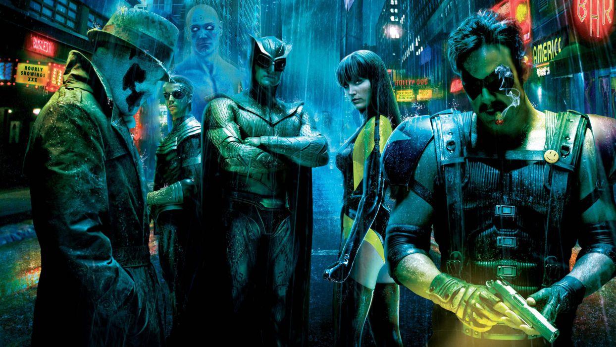 Watchmen comics games colors heroes men males women female girl wallpaper