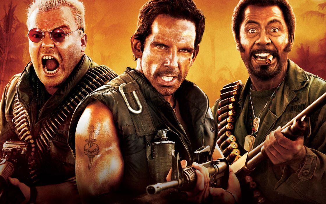 Tropic Thunder Warrior Soldier Vietnam Actor Stiller Weapons Guns