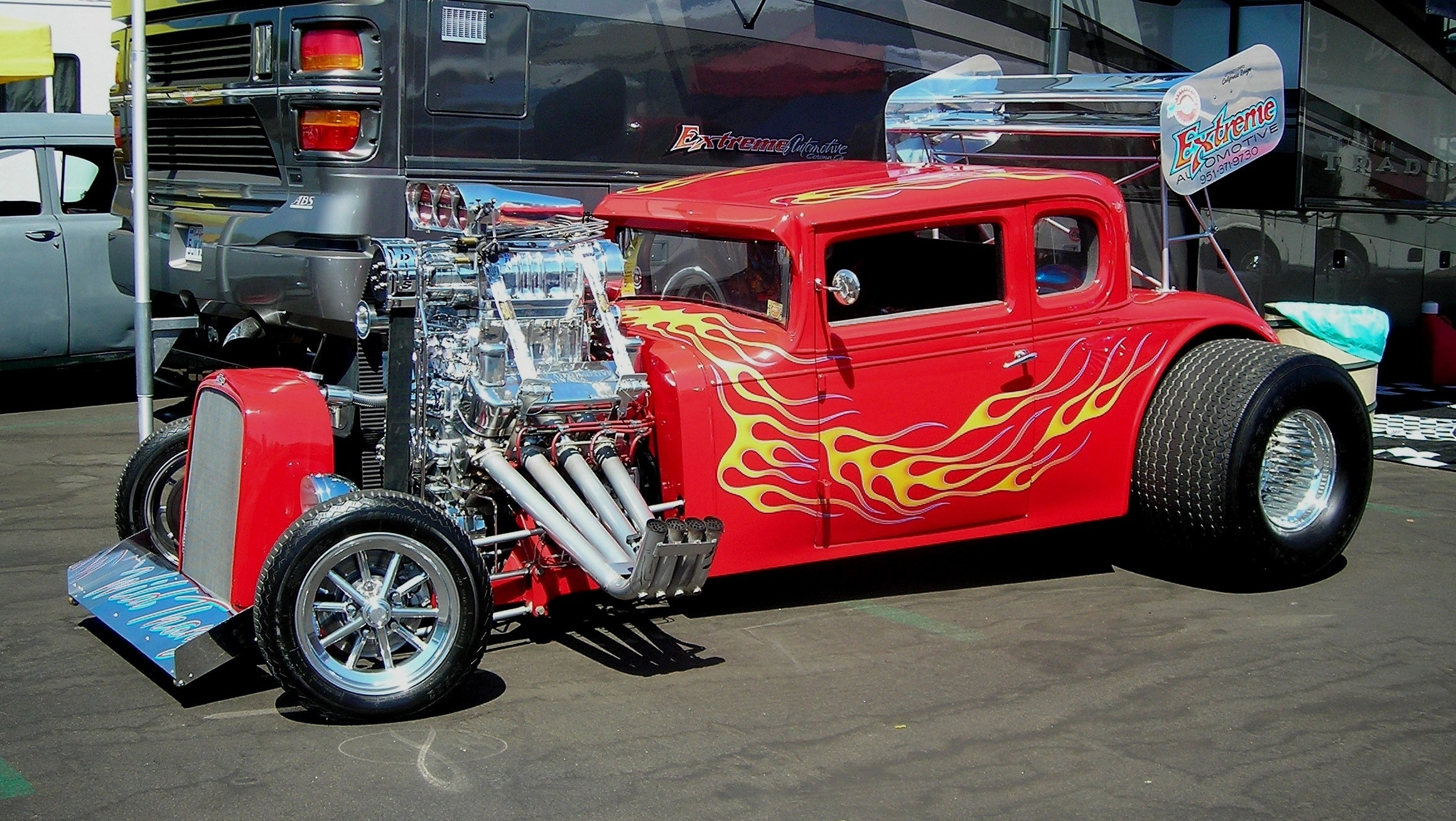 Vehicles Cars Custom Engine Chrome Hot Rod Classic Old