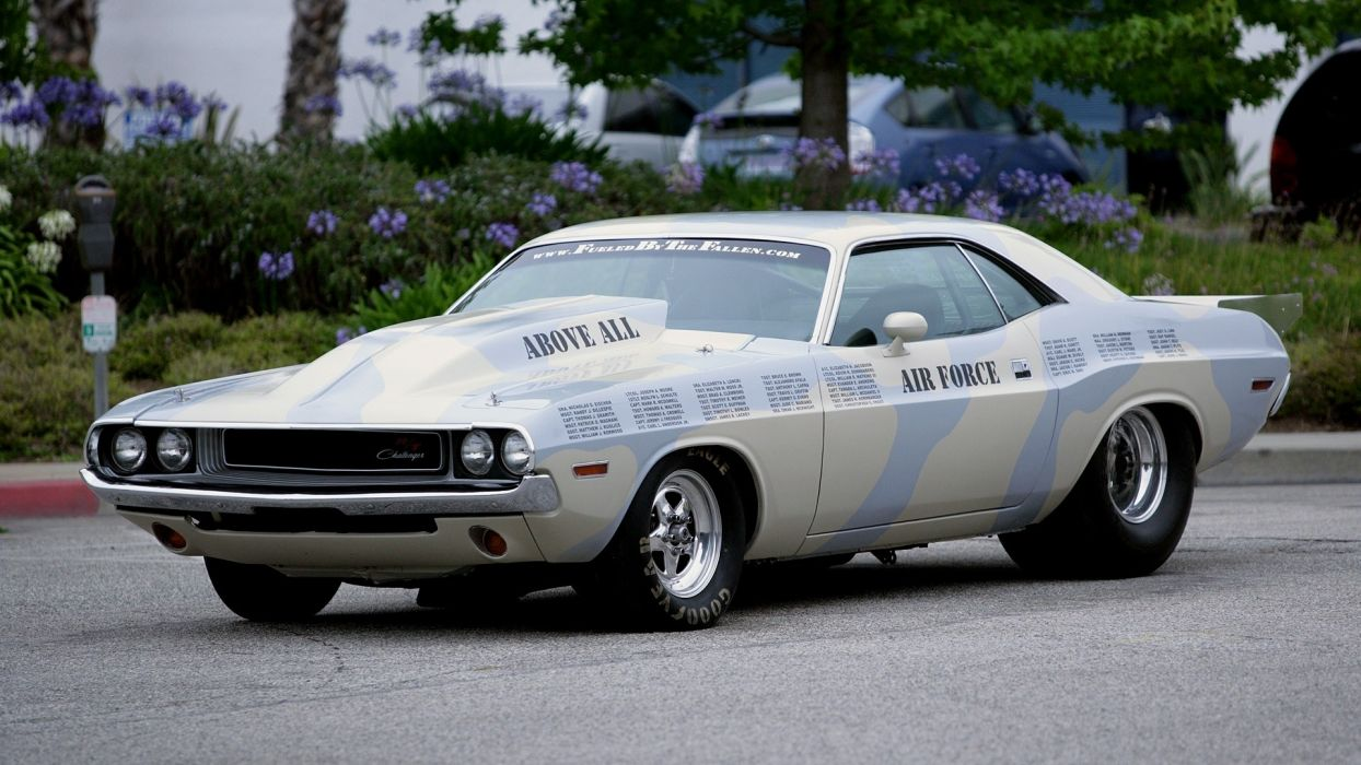 dodge challenger muscle hot rod vehicles cars wheels drag retro old classic racing custom wallpaper