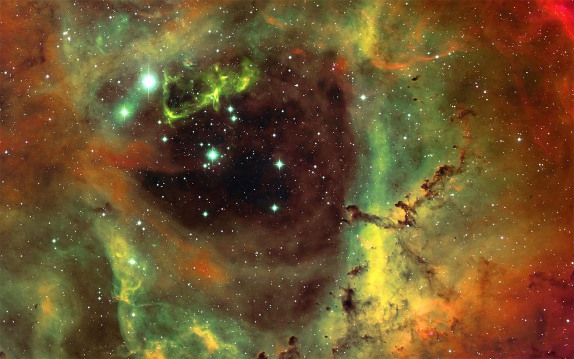 sci fi science space universe nebula dust stars colors clouds wallpaper