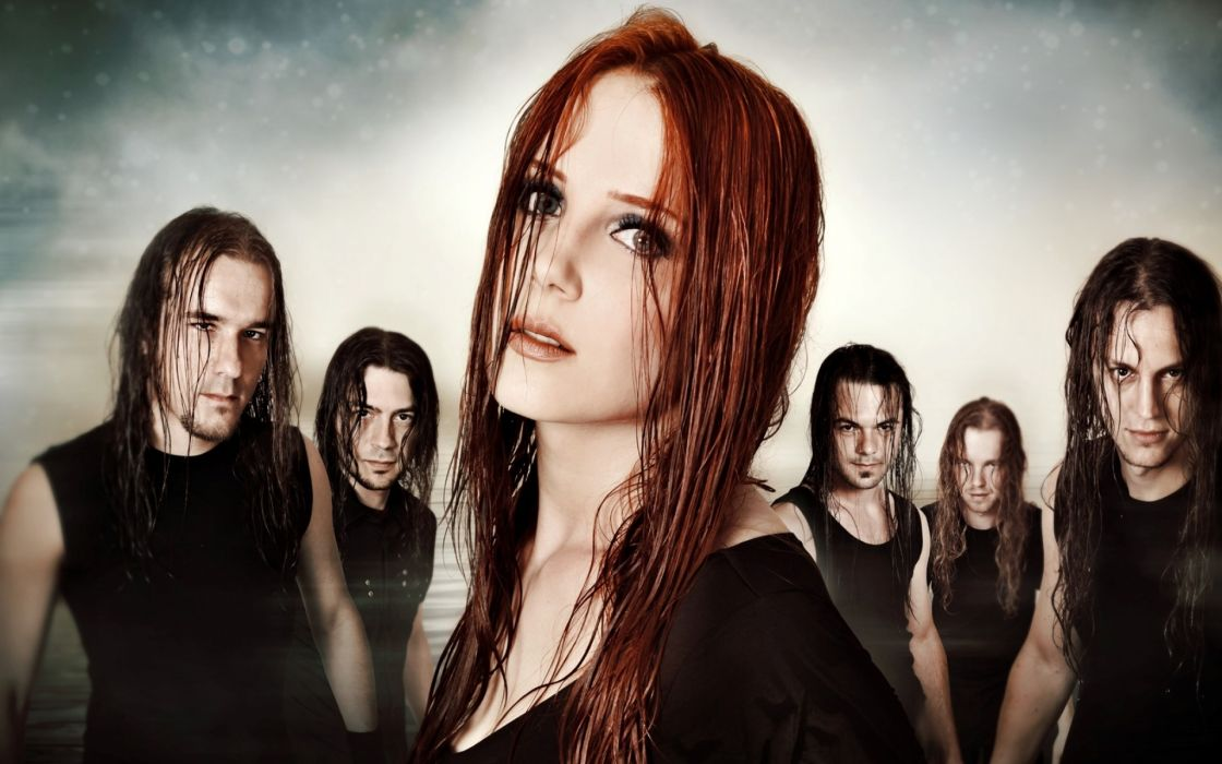 music redheads gothic epica simone simons bands groups people men males heavy metal faces eyes lips pose women female girl sensual sexy babes wallpaper