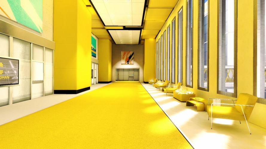 interior design rooms window mirror sunlight light chairs furniture yellow bright hallway palces buildings wallpaper
