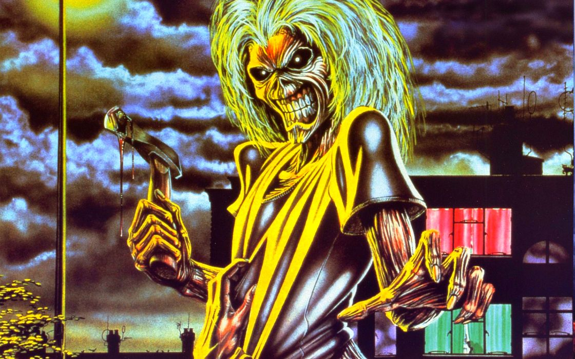 iron maiden bands groups entertainment hard rock heavy metal eddie album art dark skulls covers wallpaper