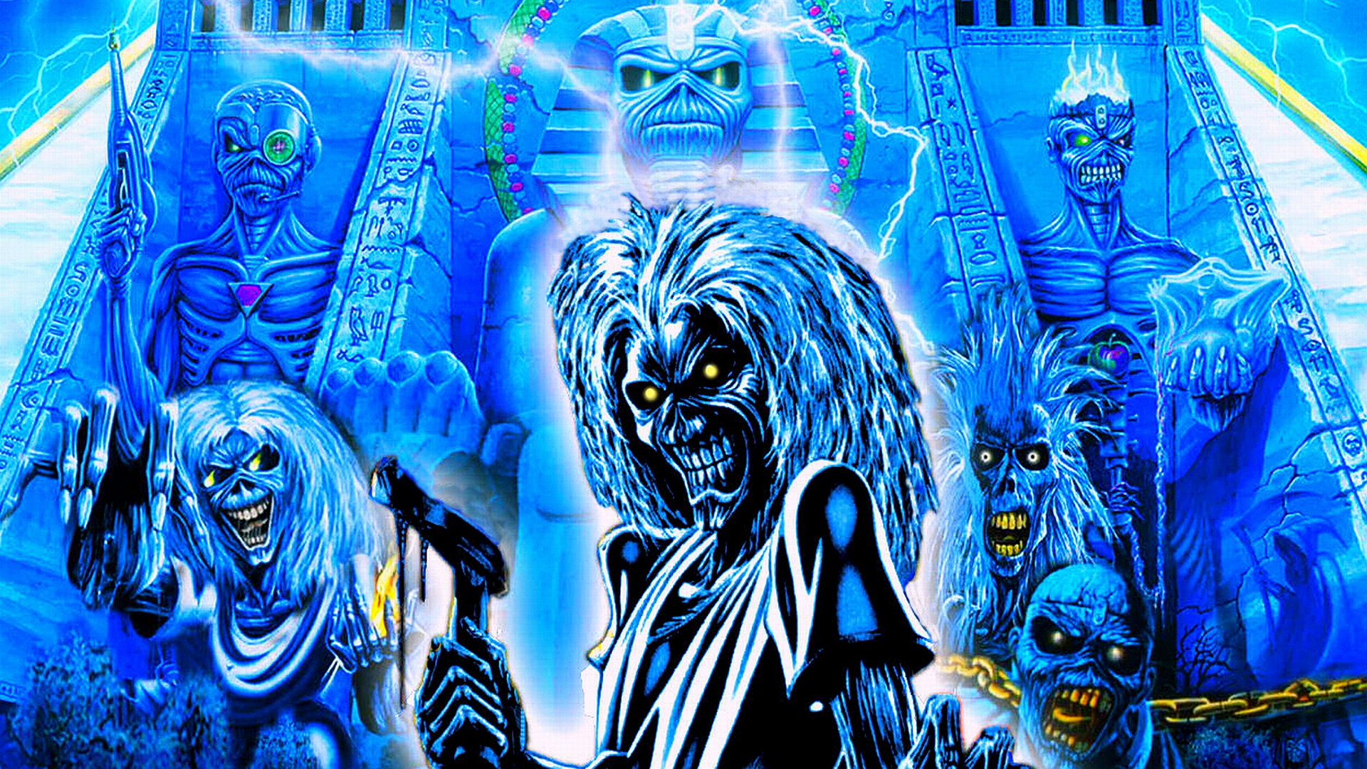 Megadeth Album Covers Iron maiden bands grou...
