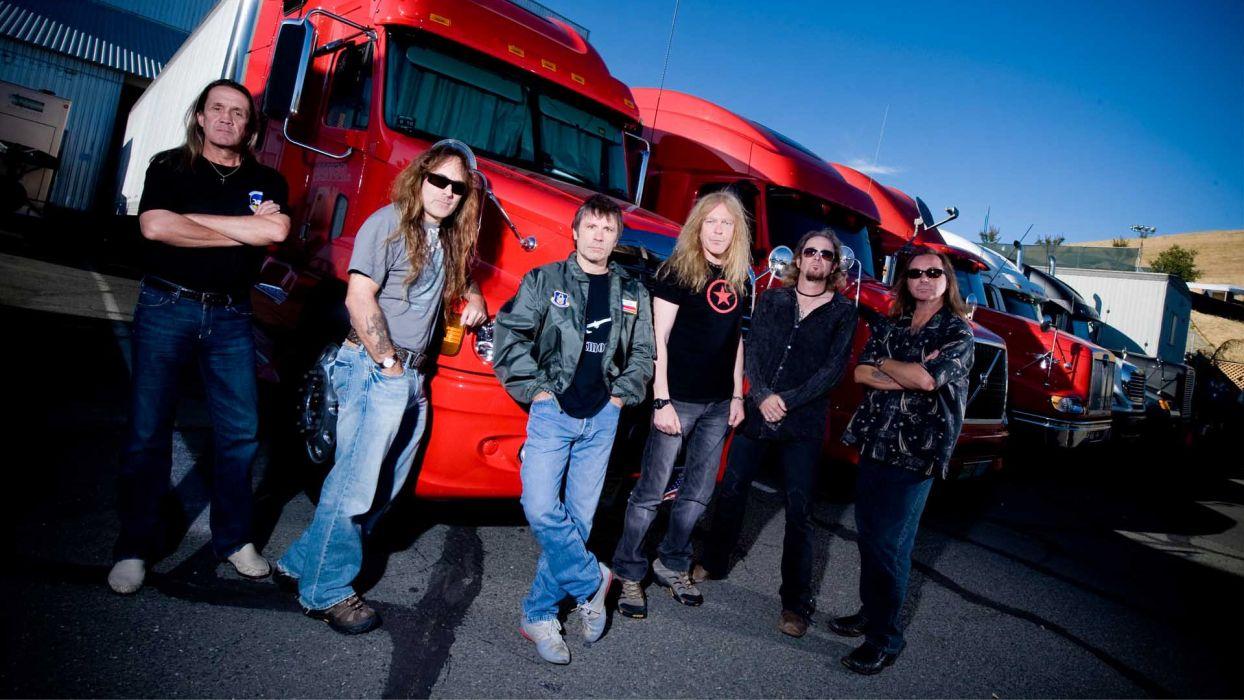 iron maiden bands groups entertainment hard rock heavy metal people men males musicians  wallpaper