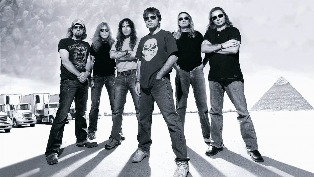 iron maiden bands groups entertainment hard rock heavy metal people men males musicians  wallpaper