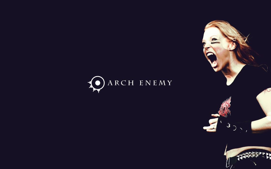 arch enemy groups bands heavy metal death hard rock music entertainment Angela Gossow album covers blondes women females wallpaper