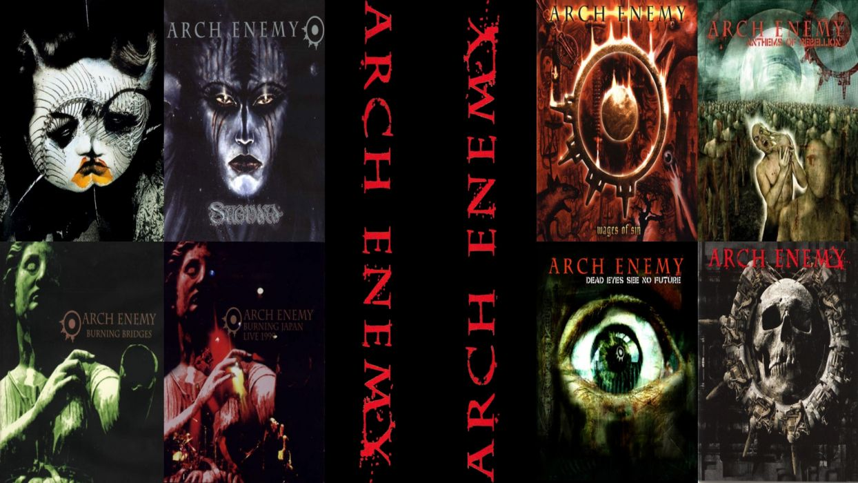 arch enemy groups bands heavy metal death hard rock music entertainment abum covers collage wallpaper