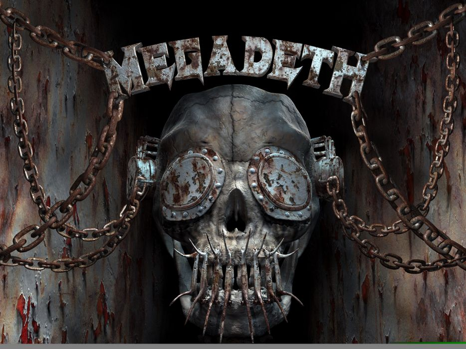 megadeth bands groups heavy metal thrash hard rock album covers Vic Rattlehead skulls wallpaper
