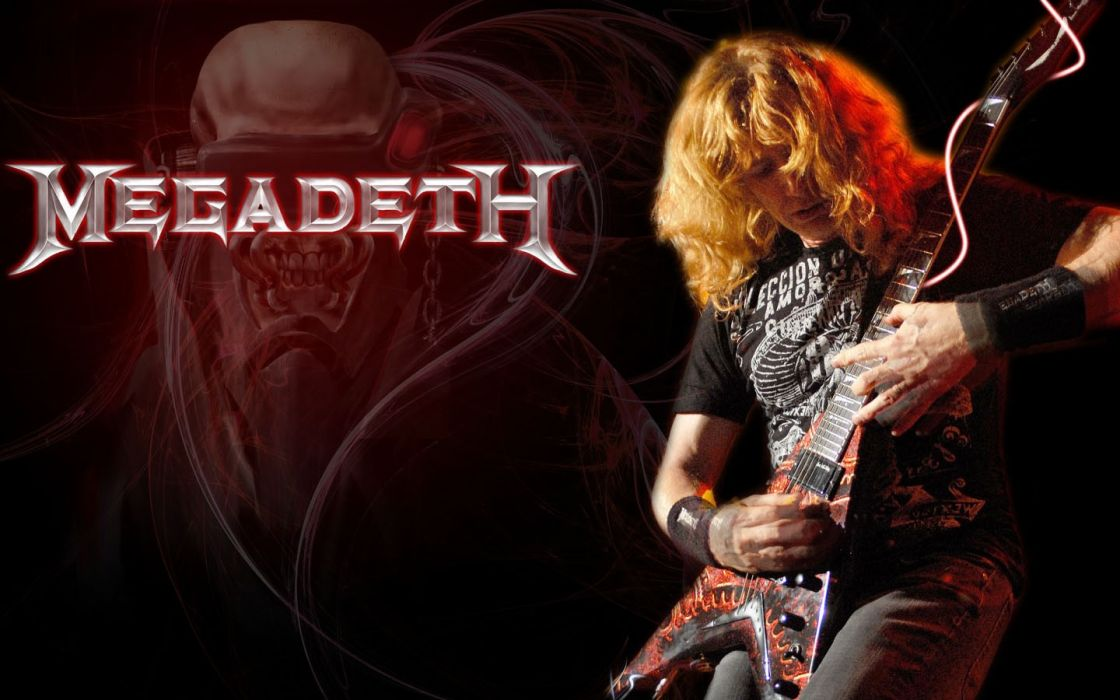 megadeth bands groups heavy metal thrash hard rock Dave Mustain Vic Rattlehead skulls concerts guitars wallpaper