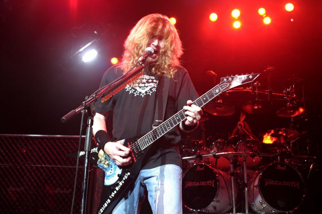 megadeth bands groups heavy metal thrash hard rock Dave Mustaine concerts guitars wallpaper