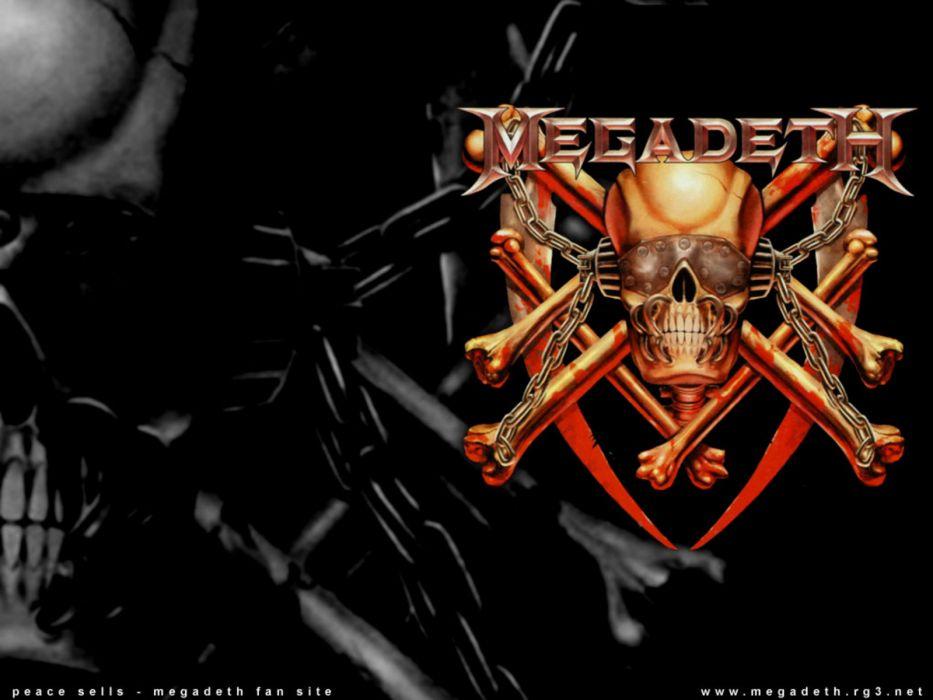 megadeth bands groups heavy metal thrash hard rock Dave Mustaine album covers Vic Rattlehead skulls wallpaper