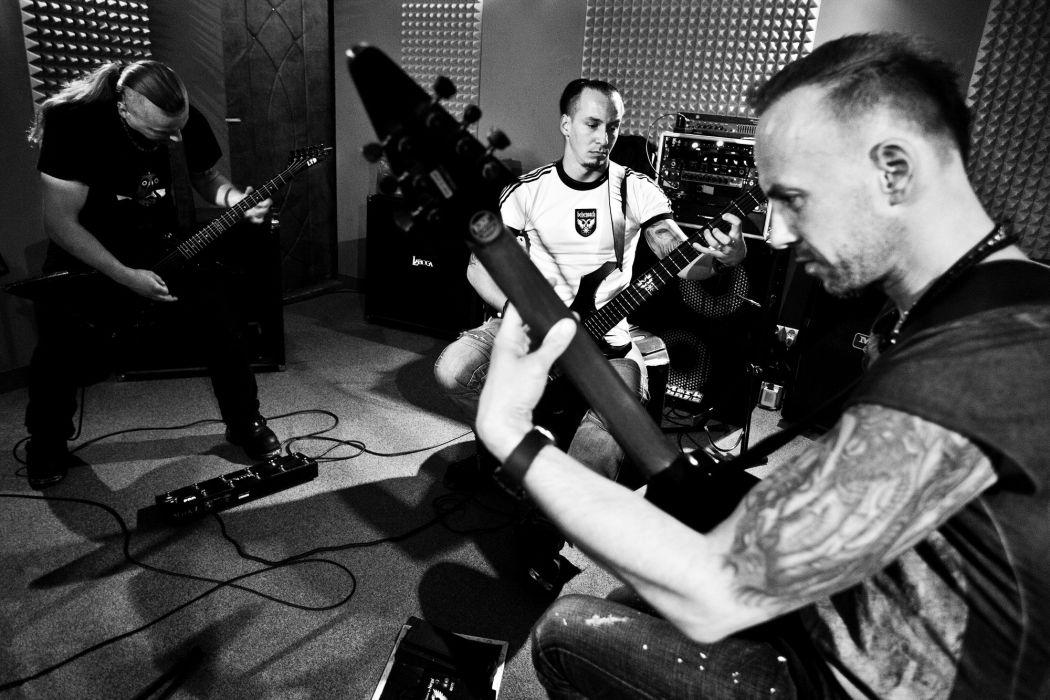 Behemoth black metal heavy hard rock entertainment music bands groups guitars wallpaper