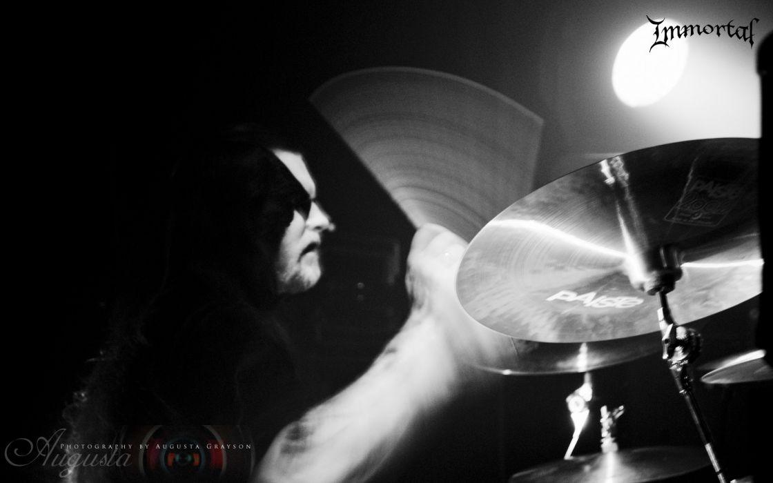 Immortal black metal heavy groups bands hard rock drums concert wallpaper