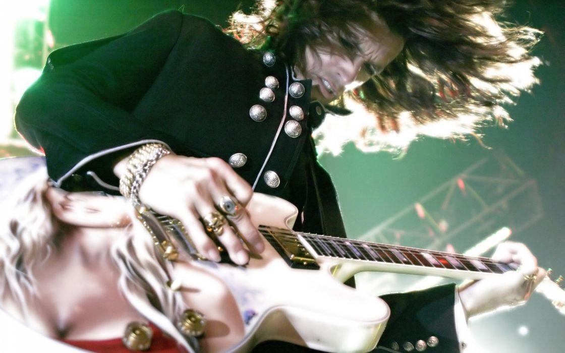 Aerosmith hard rock bands groups classic joe perry steven tyler concert guitars wallpaper