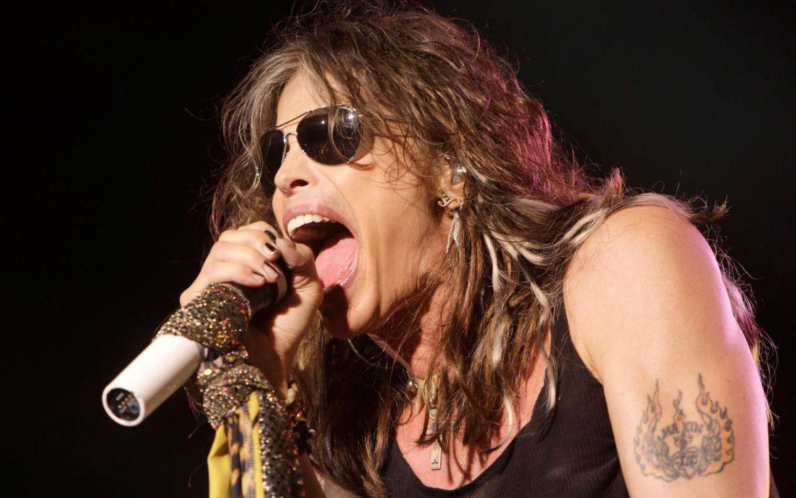 Aerosmith hard rock bands groups classic steven tyler concert microphones wallpaper