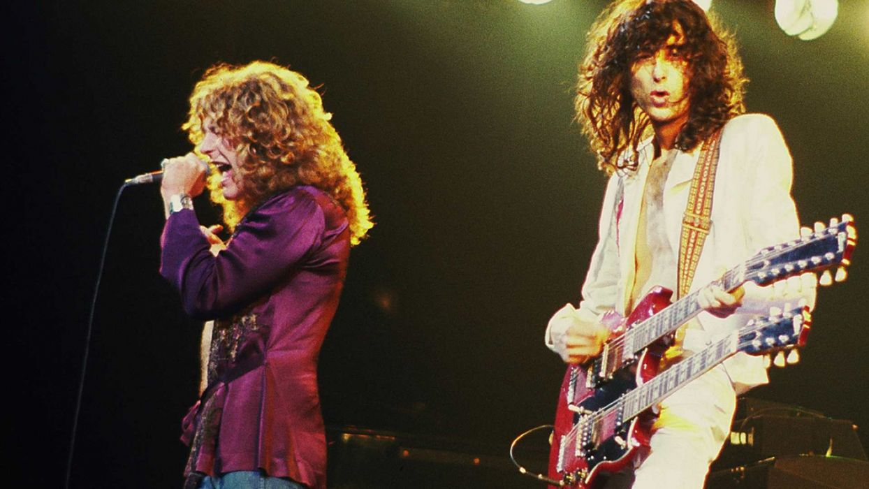 Led Zeppelin hard rock classic groups bands jimmy page robert plant concert guitars wallpaper